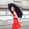 New Panda Windproof Anti-UV Sun/Rain Flower Princess Parasol Folding Umbrella Bumbershoot