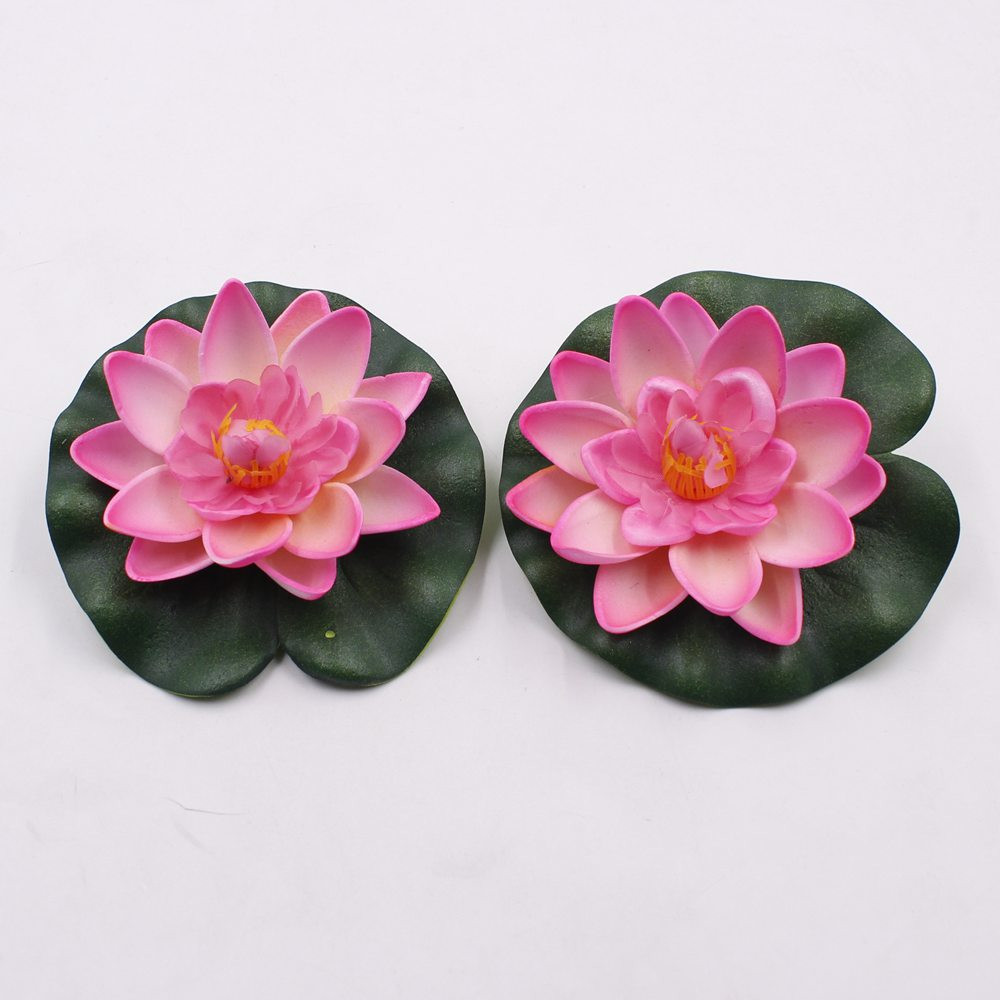 Lotus wedding bouquet reviews online shopping lotus wedding free shipping 5pcslot artificial foam flowers fake bouquet for wedding decoration fish tank floating water lily lotus size 10cm dhlflorist Image collections