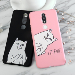 На Алиэкспресс купить чехол для смартфона soft tpu case for meizu 16xs 16s x8 m8 lite 15 16 x m15 pro7 pro5 pro 6 plus mx5 mx6 middle finger cat print back cover case