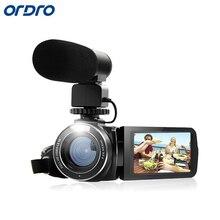 ORDRO цифровая видеокамера HDV-Z20 1080 P 30fps Full HD видеокамера Встроенный Wi-Fi пульт дистанционного управления Поддержка HDMI выход внешнего микрофона