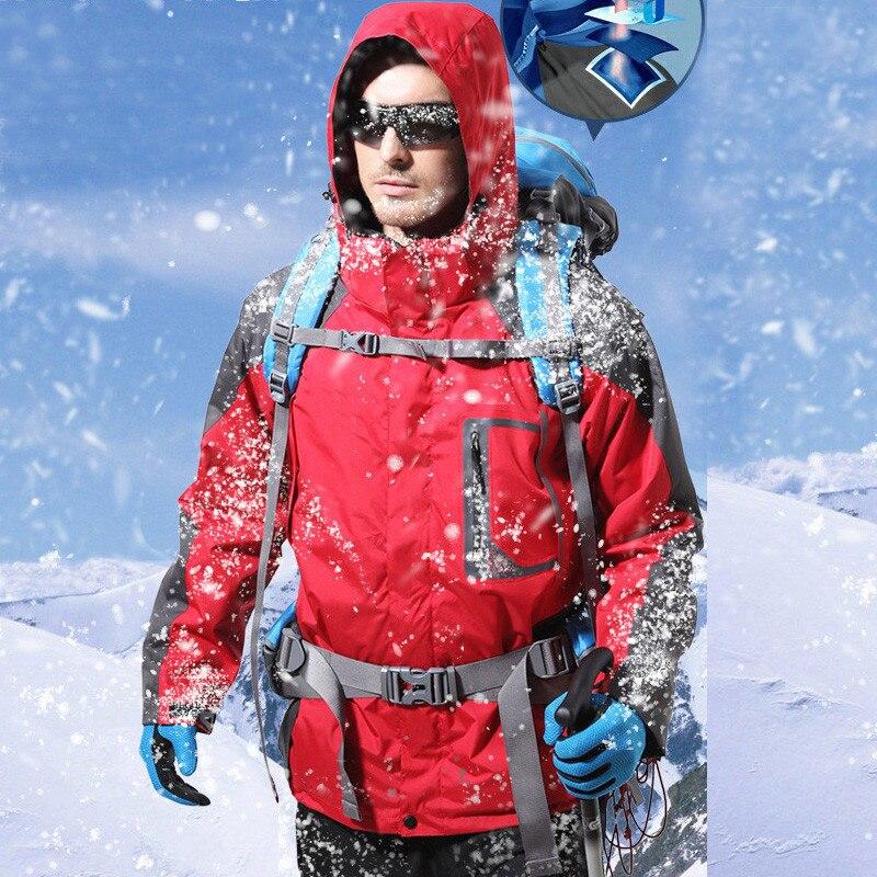 Grizzilla бренд лыжная куртка для мужчин открытый непромокаемые утепленные флисовые куртки зимние горные Лыжный спорт и Сноубординг термо