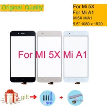 """Для Xiaomi mi 5X A1 mi 5X mi A1 сенсорный экран дигитайзер сенсорная панель переднее внешнее стекло mi 5x сенсорный экран без lcd 5,5"""""""