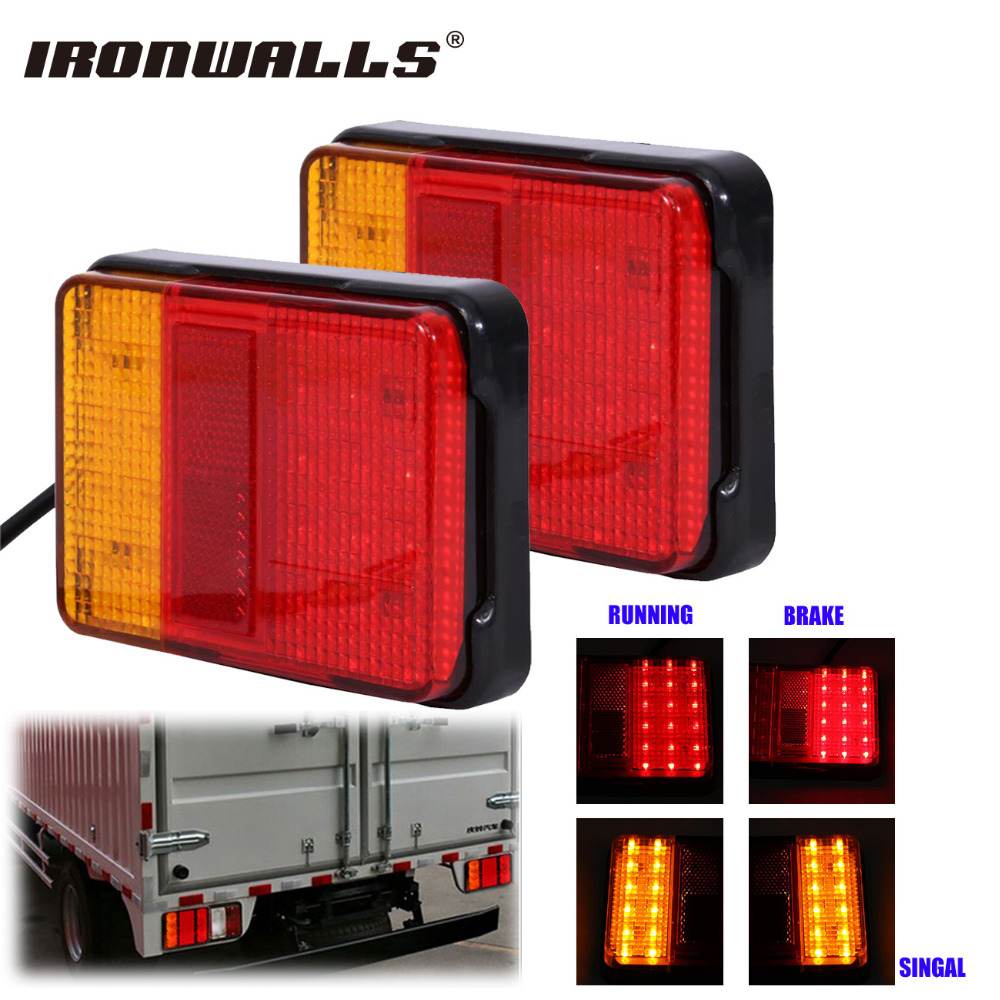 Ironwalls Car 30 LED Tail Light Rear Truck Brake Running Turn Signal Universal DC 12V For Trailers Utes Boat Caravans Waterproof jacques lemans часы jacques lemans 1 1850g коллекция london