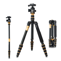 Hot Sale Pro Q668 Portable Professional Tripod SLR Camera Photography Monopod Variable Alpenstock 3 In1 Wholese