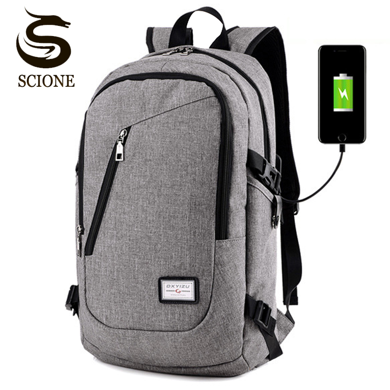 Fashion Hot Multifunction Usb Charging Men 15inch Laptop Travel Backpacks For Teenager Male Mochila Leisure School Backpacks