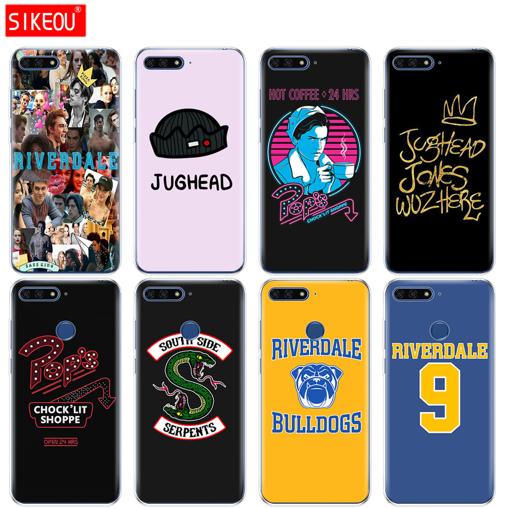 <font><b>Silicone</b></font> Cover Phone <font><b>Case</b></font> For <font><b>Huawei</b></font> Honor 7A PRO 7C Y5 <font><b>Y6</b></font> Y7 Y9 <font><b>2017</b></font> 2018 Prime American TV Riverdale image