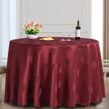 Round Tablecloth Hotel Wedding Party Banquet Dinning Table Cover Spread  Jacquard Green White Yellow Purple Burgundy