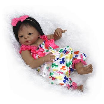 Nicery 22inch 55cm Bebe Reborn Doll Indian Style Hard Silicone Boy Girl Toy Reborn Baby Doll Gift for Child Colourful Baby Doll