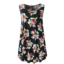 852bc19ffd5 Women s Sleeveless Floral Flare Tank Top Blouse Swing Tunic Summer  ShirtAUG21