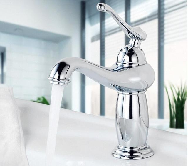 New Arrivals Water Tap Chrome Bathroom Faucet G hot & cold Brass ...
