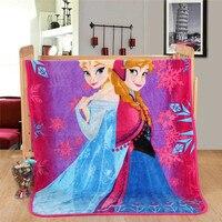 Disney congelado elsa anna princesa cobertor de pelúcia carros mickey sofia flanela cobertor na cama/sofá/avião flatsheet cama joga