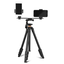 Professional Portable Travel Aluminum Camera Tripod Mobile Phone Live Camera Stand DV Video Selfie Tripod with Pan Head for DSLR цены