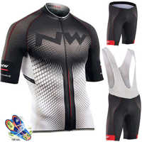 NW 2019 Summer Cycling Jersey Set Breathable Team Racing Sport Bicycle Jersey Mens Cycling Clothing Short Bike Jersey Northwave