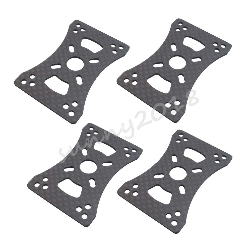 4pcs 3K CF RC Motor Mount Plate for 16mm 22mm 25mm Arm Tube Quadcopter Multirotor DIY