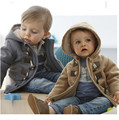 2017 de los Bebés de Invierno traje para la Nieve Caliente prendas de Vestir Exteriores Delgada de piel sintética Con Capucha de Lana Polar Niños Trajes de Chaqueta de Abrigo acolchado