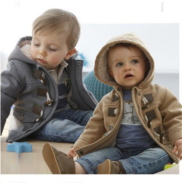 2017 meninos Inverno Quente Snowsuit Outerwear Fina Lã de couro falso Com Capuz de Lã Crianças Roupas Jaqueta Casaco acolchoado
