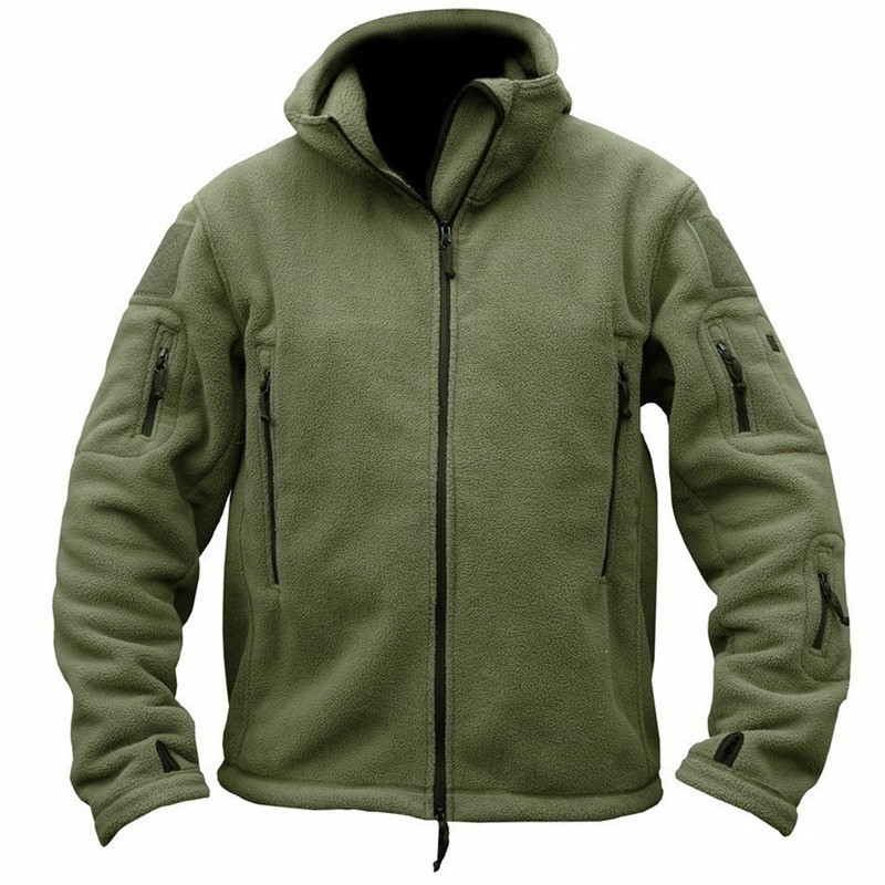 Winter Military Tactical Fleece Jacket Men Warm Polar Army Clothes Multiple Pocket Outerwear Casual Thermal Hoodie Coat Jackets