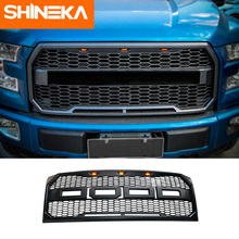 SHINEKA FRONT RACING GRILLE RAPTOR F150 GRILLS FRONT BUMPER MASK FIT FOR Ford F-150 2015+ GRILL ACCESSORIES