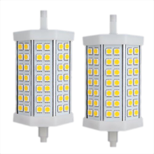 1 Pair J118 R7s Bulb spot Dimmable 5050 SMD 423000K Warm White LED 118mm