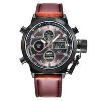 Cronógrafo relojes hombres marca de lujo LED relojes deporte Militar Reloj Genuino reloj de cuarzo de los hombres relojes de pulsera relogio masculino