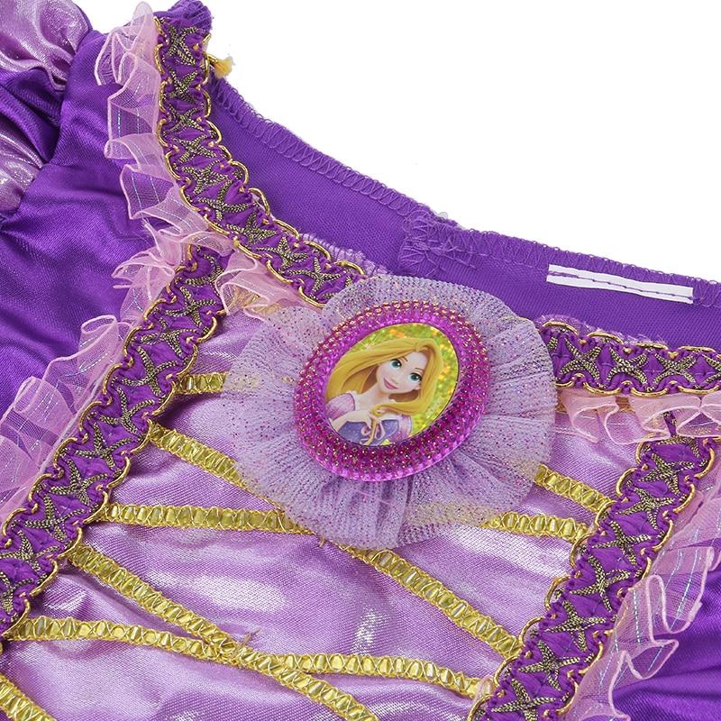 Meisjes Sparkly Prinses Rapunzel Kostuum Met Karakter Cameo - Carnavalskostuums - Foto 4
