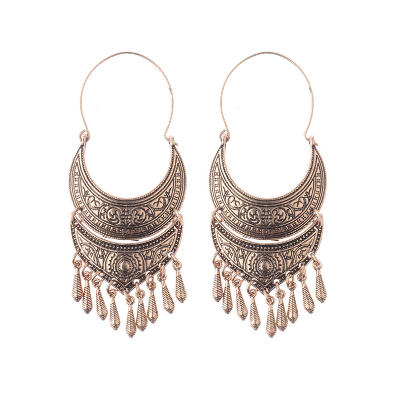 Drop Earrings Bronze/silver Vintage Ethnic South Jewelry Gold/silver Tone Oxidized Indian Earrings Jhumka Jhumki Hqe310
