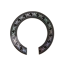 Hard PVC Circle Sound Hole Rosette Inlay for 38 39 inch Acoustic Guitars Decal kaish ukulele rosette paua abalone solid curved strips ukulele sound hole inlay width 2mm 3mm