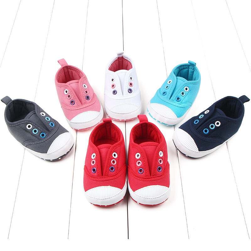 Autumn Candy Color Elastic Soft Bottom Study Walking Shoes Baby Shoe Baby Shoe D0707