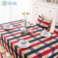 2016 New Arrival European Style Edinburge Plaid Cotton Table Cloth Freee Shipping
