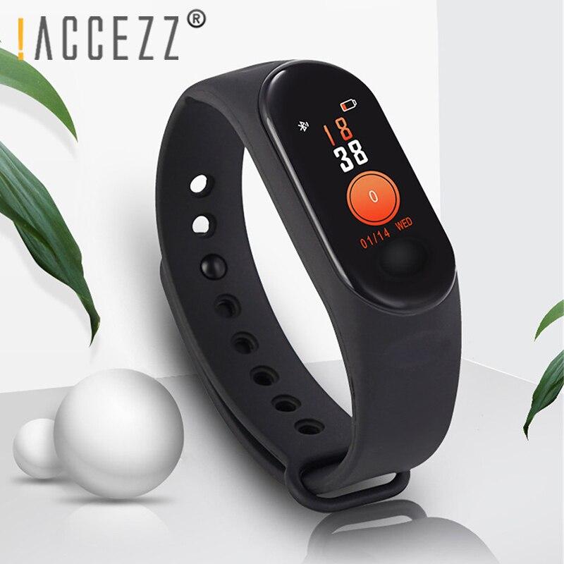 ! Bracelet de bande intelligente adhérzz pour Xiaomi mesure de la pression artérielle écran coloré Bracelet Tracker de Fitness M3 pour IOS Android