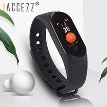 ! ACCEZZ Banda Intelligente Braccialetto Per Xiaomi Schermo Variopinto di Misurazione della Pressione Arteriosa Wristband Inseguitore di Fitness M3 Per IOS Android