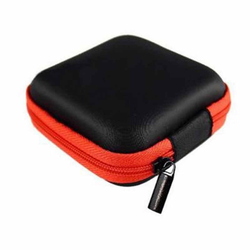 HEFLASHOR 1 adet dijital paketi kozmetik çantası pasaport paketi kulaklık kılıfı taşıma sert kulaklık çantası makyaj çantası