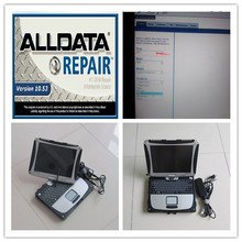 alldata 10.53 and mitchell demand software installed version hdd 1tb laptop toughbook cf19 touch screen with battery windows7