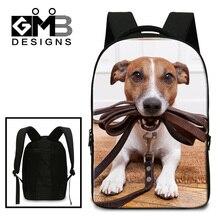 Dispalang милая собака животное печати школьные рюкзаки школьников сумки на ремне мужчины случайные путешествия ноутбук рюкзак bookbag