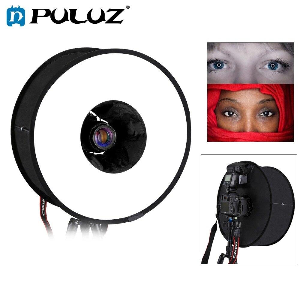 PULUZ 45 cm Ring Softbox Blitzgerät Runde Stil Flash Licht Schießen Weiche box Faltbare Weiche Flash Licht Diffusor
