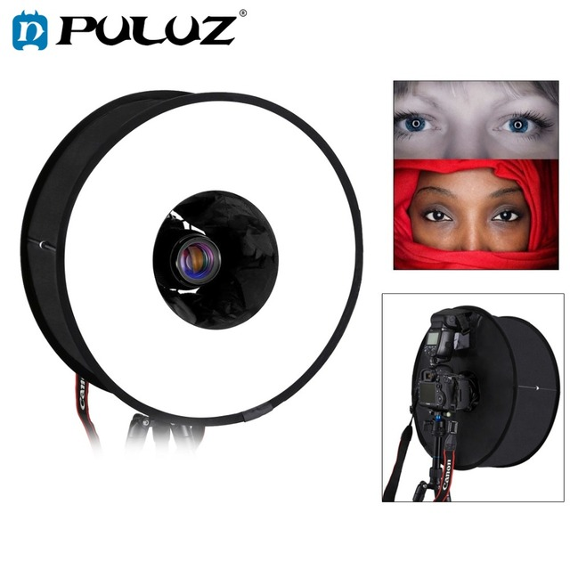 PULUZ 45cm Ring Softbox Speedlight Round Style  Flash Light Shoot Soft box Foldable Soft Flash Light Diffuser
