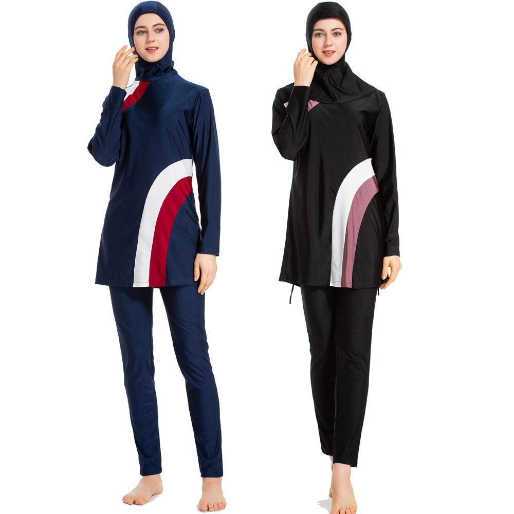 3e5b287282970 S-6XL Women Plus Size Muslim Swimwear Beach Bathing Suit Muslimah Islamic Swimsuit  Swim Surf Wear Sport Clothing Saman Mandi