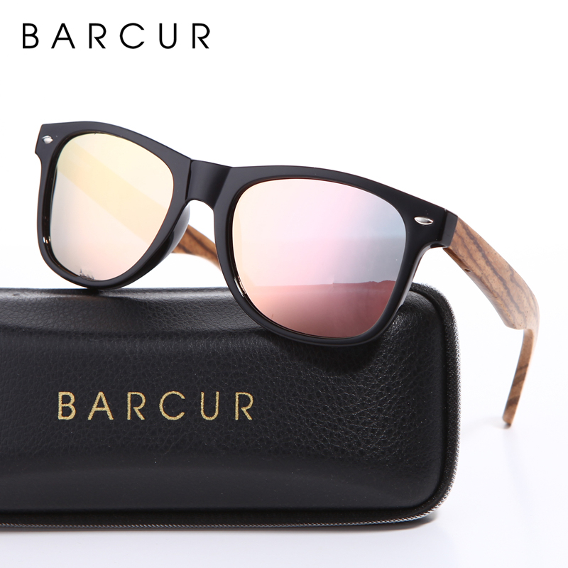 BARCUR Brand Vintage Style Sunglasses Men Flat Lens Square Frame Women Sun Glasses with Spring Hinge Box free