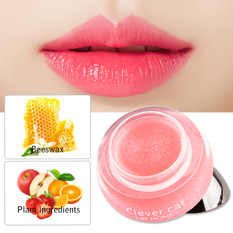 Fruit Moisturizing Plumper Enhancer Lip Balm Beeswax Plant Ingredients Vitamin Lip Gloss Sleeping Crystal Translucent Lip Mask 1