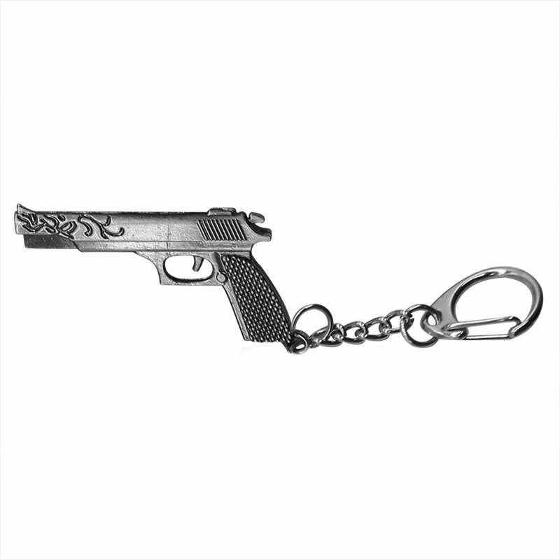Hip Hop Simulation Weapon Model Keychain Male Mini Gun Key Chain Pistol Car Keyring AWP Rifle Sniper Cool Mens Jewelry For Dad