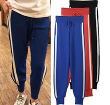Urumbassa women casual pants New 2018 spring autumn Side Stripe slacks Korean style Elastic Waist Pants S332