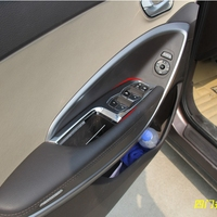 For Hyundai Santa Fe ix45 2013 2014 2015 Only For Left handed Driving ABS Matte Window Lift Switch Armrest Cover Trims 4pcs/set