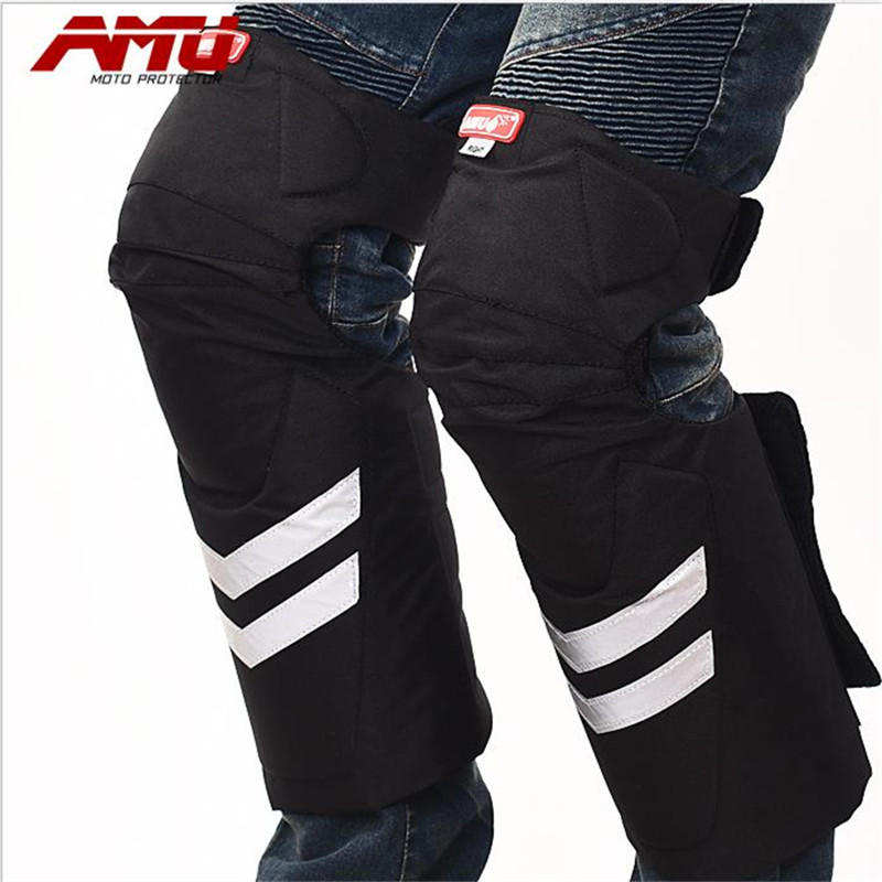 AMU Motorcycle Protective kneepad Motorcycle Elbow Pats Sports Racing Knee Protective Gears Warm Flexible Racing Equipment Set