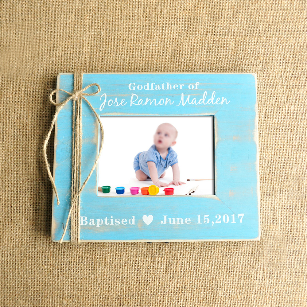 New personalized picture frame gift for godfather baptism gift new personalized picture frame gift for godfather baptism gift blue nursery baby photo frame in frame from home garden on aliexpress alibaba group jeuxipadfo Image collections