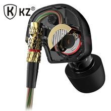 Kz comió auriculares últimas Original de la marca Super Bass auriculares con Mic 3.5 mm de alta fidelidad audifonos chapado en oro Go Pro auriculares de música