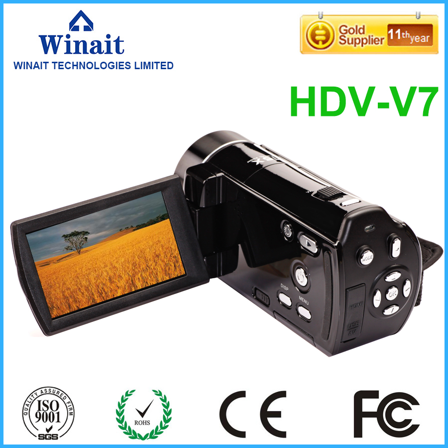 Winait professional digital video camera HDV-V7 24mp full hd 1080p DIS high quality wireless digital video camcorder winait electronic image stabilization hdv z8 digital video camera with recording function touch screen