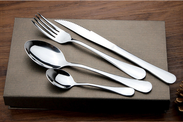 Silver cutlery 24 pieces set stainless steel dinnerware quality fork spoon font b knife b font