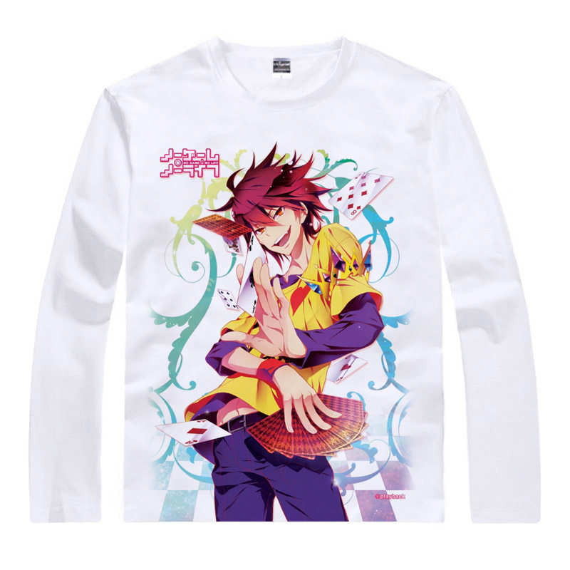 No Game No Life T-Shirt Dhampirs and sirens Shirt High Quality Long sleeves t-shirts anime Womens Printed T Shirts cosplay a