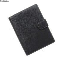 2015 Men Passport Holder Genius Leather Vertical Wallets Design Men S Money Pocket With 9 Card