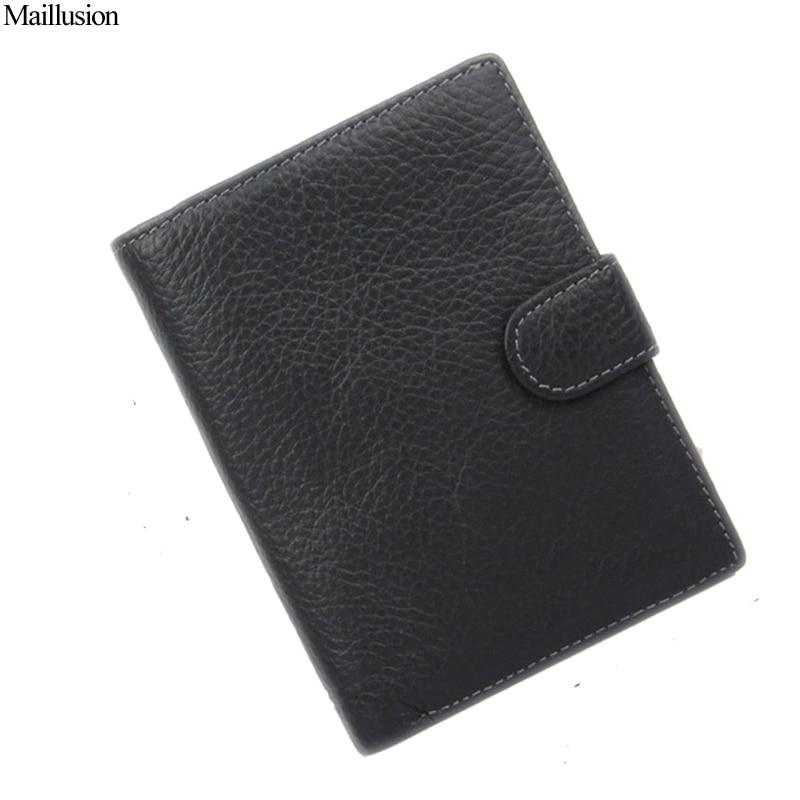 Maillusion 2017 Men Wallet Genius Leather Portfolio Brand Designers Male Clutch Passcard Money Pocket Large Capacity